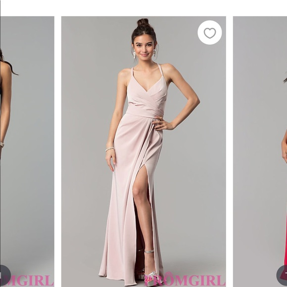 Dresses | Promgirlcom Blush Long Dress | Poshmark